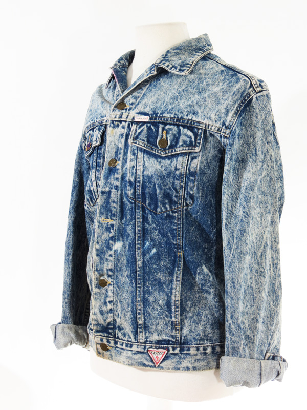 Vintage Guess Acid Wash Denim Jacket 5 Star Vintage