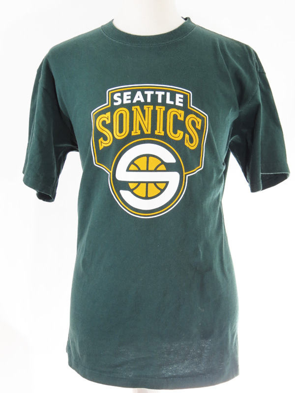 Seattle Supersonics Green T Shirt Jersey 5 Star Vintage