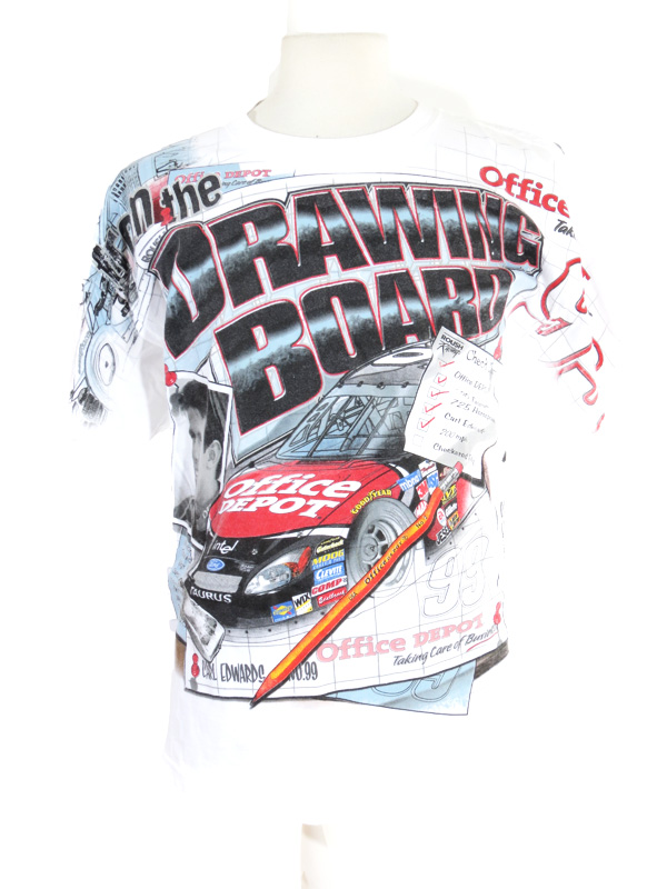 Carl edwards office depot nascar print t shirt xl 5 star for Office depot shirt printing