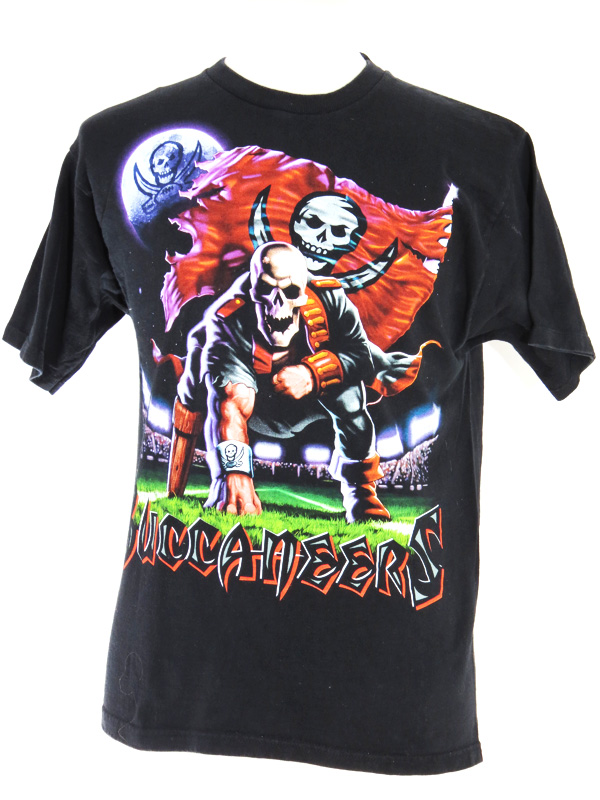 90s tampa bay buccaneers print t shirt 5 star vintage for South bay t shirt printing