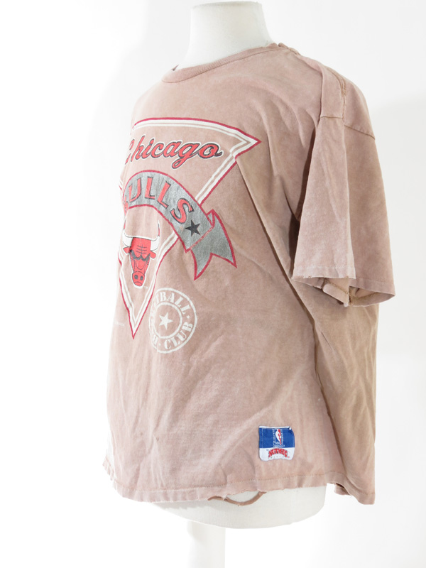 1989 Chicago Bulls Faded Pink T Shirt 5 Star Vintage
